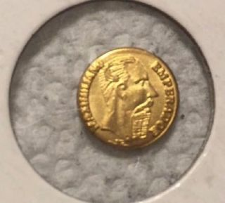 Brilliant Un Circulated,  1865 Mexican ' Gold ' Coin One Maximillian Peso photo