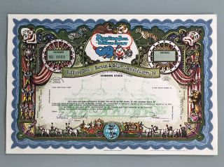 Ringling Brothers Barnum Bailey Specimen Stock Certificate Uncirculated photo