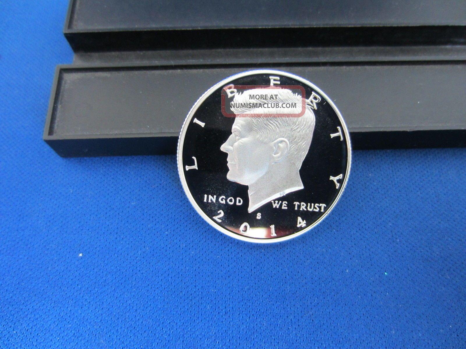 2014 - S Silver Kennedy Half Dollar Deep Cameo Mirror Proof Upper Grading Range Kennedy (1964-Now) photo