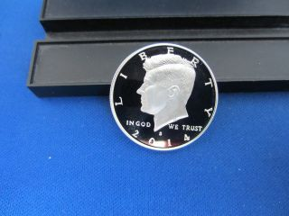 2014 - S Silver Kennedy Half Dollar Deep Cameo Mirror Proof Upper Grading Range photo