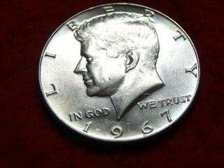 1967 Kennedy Silver Half Dollar 40 photo
