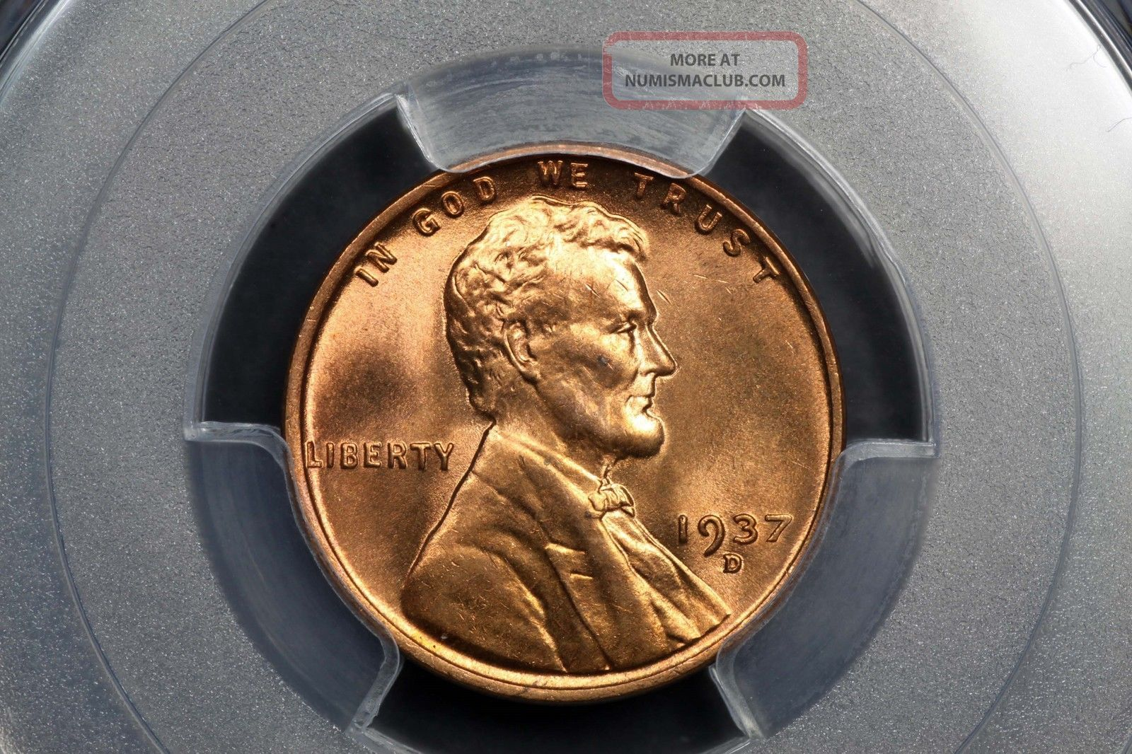 1937 - D Lincoln Wheat Cent Copper 1c Ms66 Rd Red Pcgs 83949371 Small Cents photo