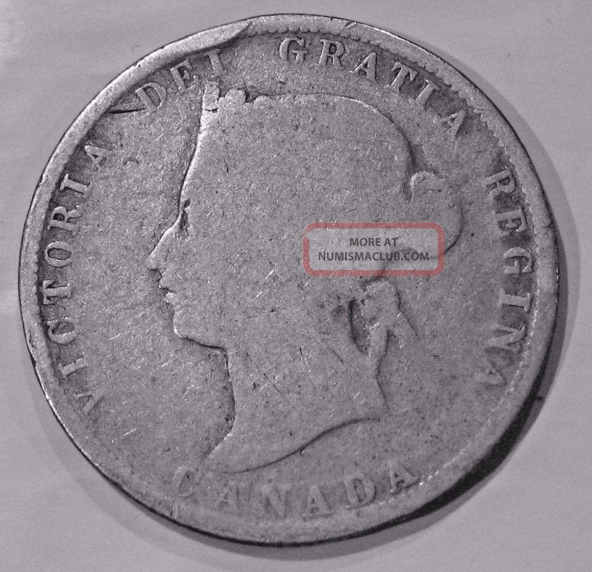 1880 H Canada 25 Cents - Queen Victoria Coins: Canada photo