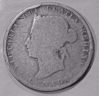 1880 H Canada 25 Cents - Queen Victoria photo