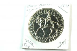 1977 Great Britain Proof Silver 25 Pence Silver Jubilee photo