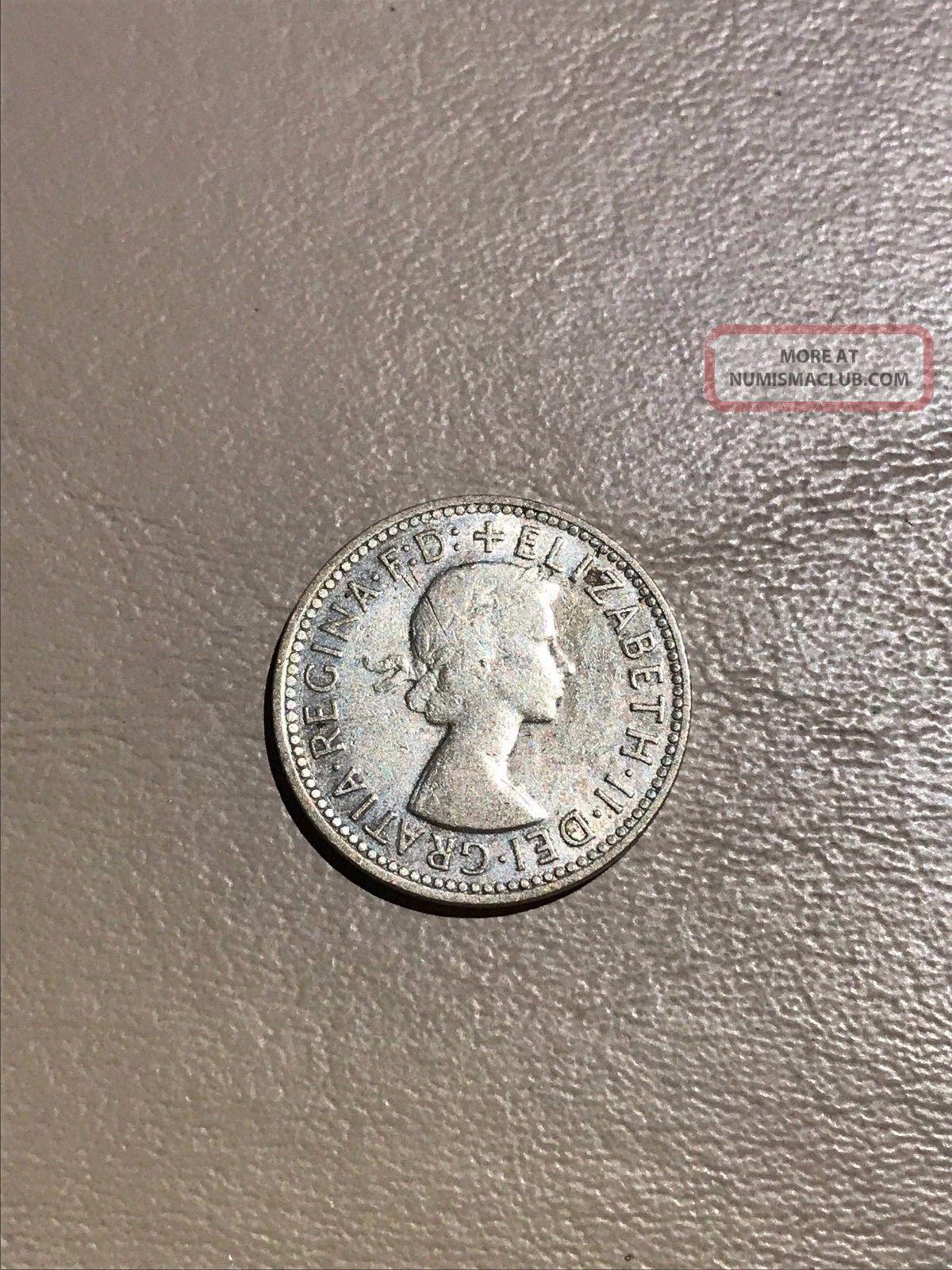 1958 Australian Silver Shilling Australia photo