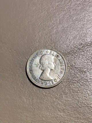 1958 Australian Silver Shilling photo