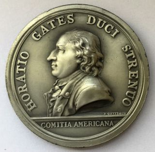 C1710 General Horatio Gates Pewter Medal photo
