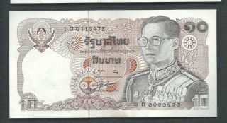 Thailand 1980 10 Baht P 87 Circulated photo