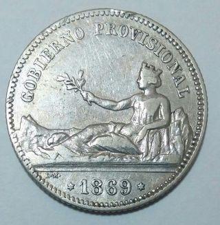 Spain 1 Peseta 1869 Sn - M España
