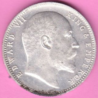 British India - 1903 - King Edward Vii - One Rupee - Rarest Silver Coin - 48 photo