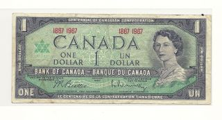 1967 Canada Centennial One Dollar Bank Note photo