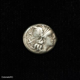 Roman Republic Pinarius Natta Silver Denarius Coin - 149 Bc photo