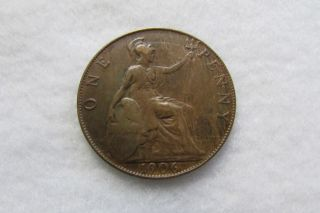 1906 Great Britain One Penny Coin,  King Edward Vii,  30.  8 Mm photo