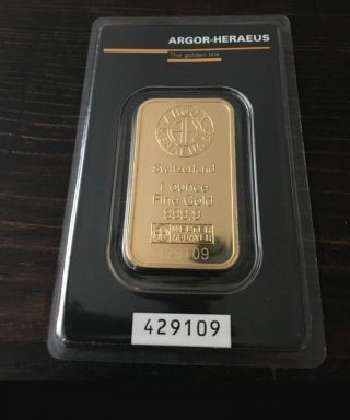 Special Three (3) 1 Oz Gold Argor Heraeus.  9999 Gold Bar In Assay Card photo