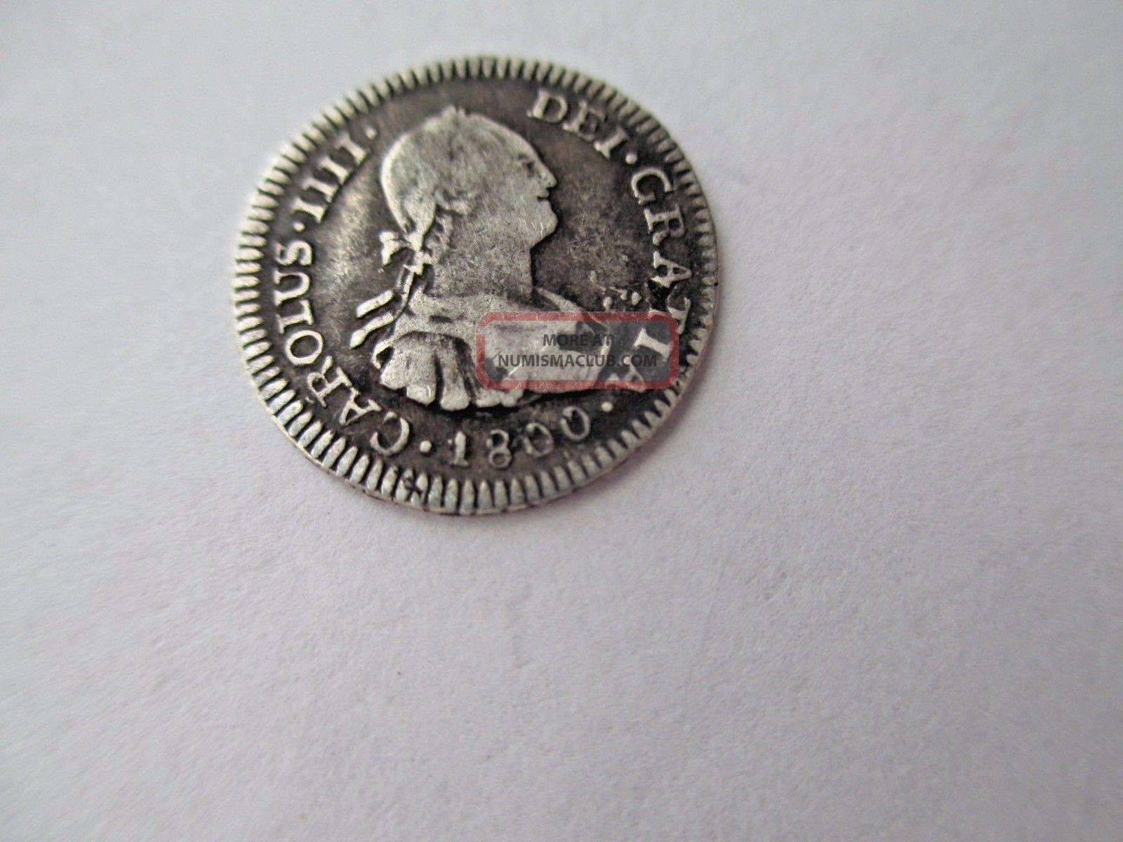Ef Potosi Bolivia 1/2 Real 1800 P P 18mm 1.  6 Grams 903 Silver South America photo