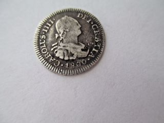 Ef Potosi Bolivia 1/2 Real 1800 P P 18mm 1.  6 Grams 903 Silver photo