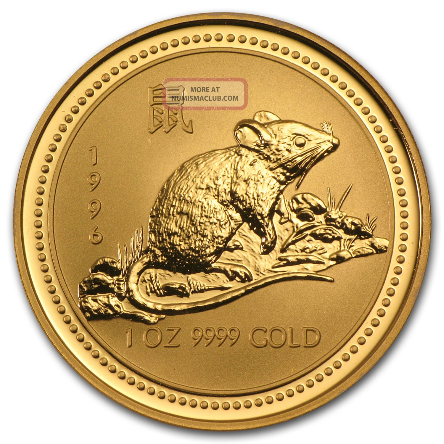 1996 Australia 1 Oz Gold Lunar Rat (series I) - Sku 9007 Other Coins of the World photo