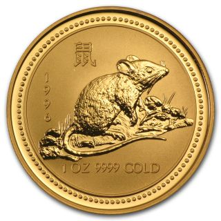 1996 Australia 1 Oz Gold Lunar Rat (series I) - Sku 9007 photo
