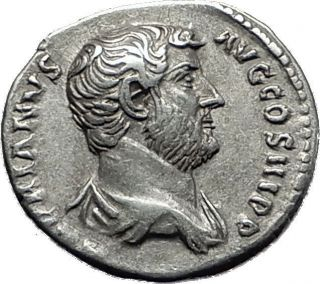 Hadrian 117 - 138ad Silver Rare Ancient Roman Coin Fortuna Luck Cult I58490 photo