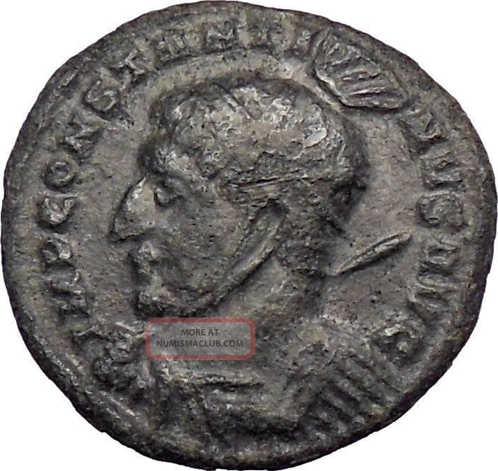 Constantine I The Great 319ad Silvered Ancient Roman Coin Victory Cult I28622 Coins: Ancient photo