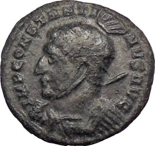 Constantine I The Great 319ad Silvered Ancient Roman Coin Victory Cult I28622 photo