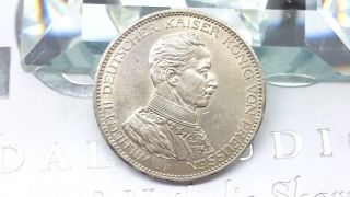 German States Prussia 3 Mark,  1914 Silver Coin Auc, photo
