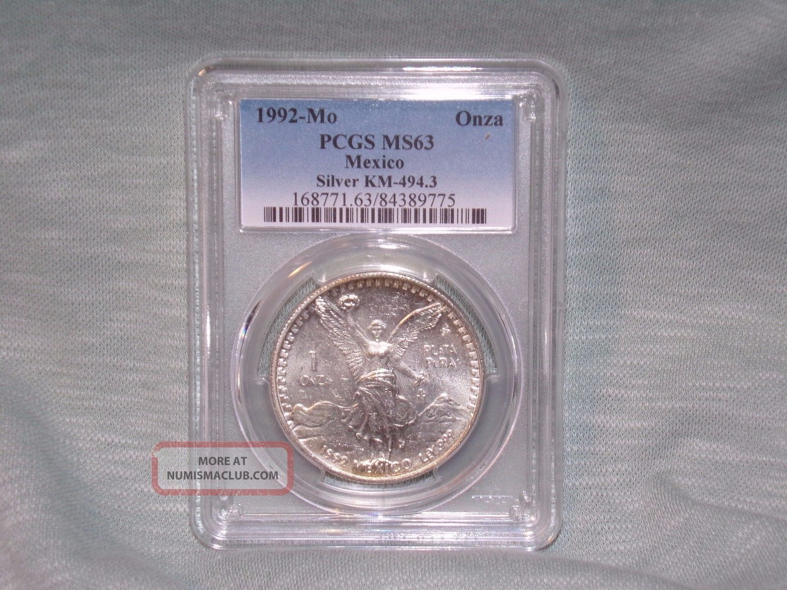 1992 - Mo Pcgs Ms63 1onza Silver Libertad