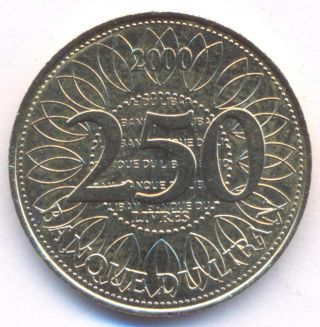Lebanon,  250 Livres,  A.  D.  2000,  Uncirculated photo
