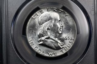 1963 Franklin Silver 50c Ms 64 Pcgs 84366456 photo