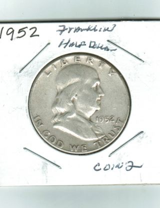 1952 Franklin Half Dollar,  Coin 2 photo