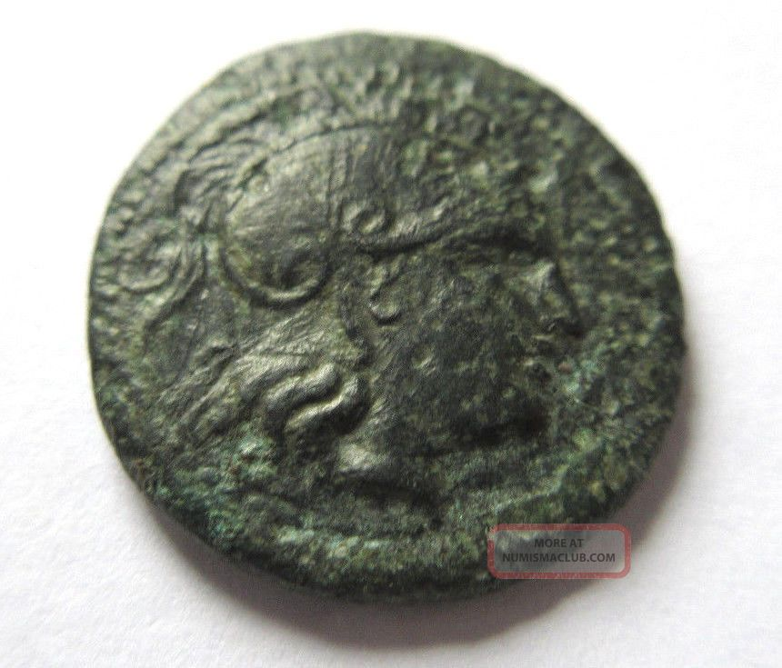 Ae - 21 Of Lysimachos From Thrace Rv.  Lion Jumping Right Coins: Ancient photo