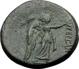 Pergamon In Mysia 200bc Athena Nike Authentic Ancient Greek Coin I59456 photo