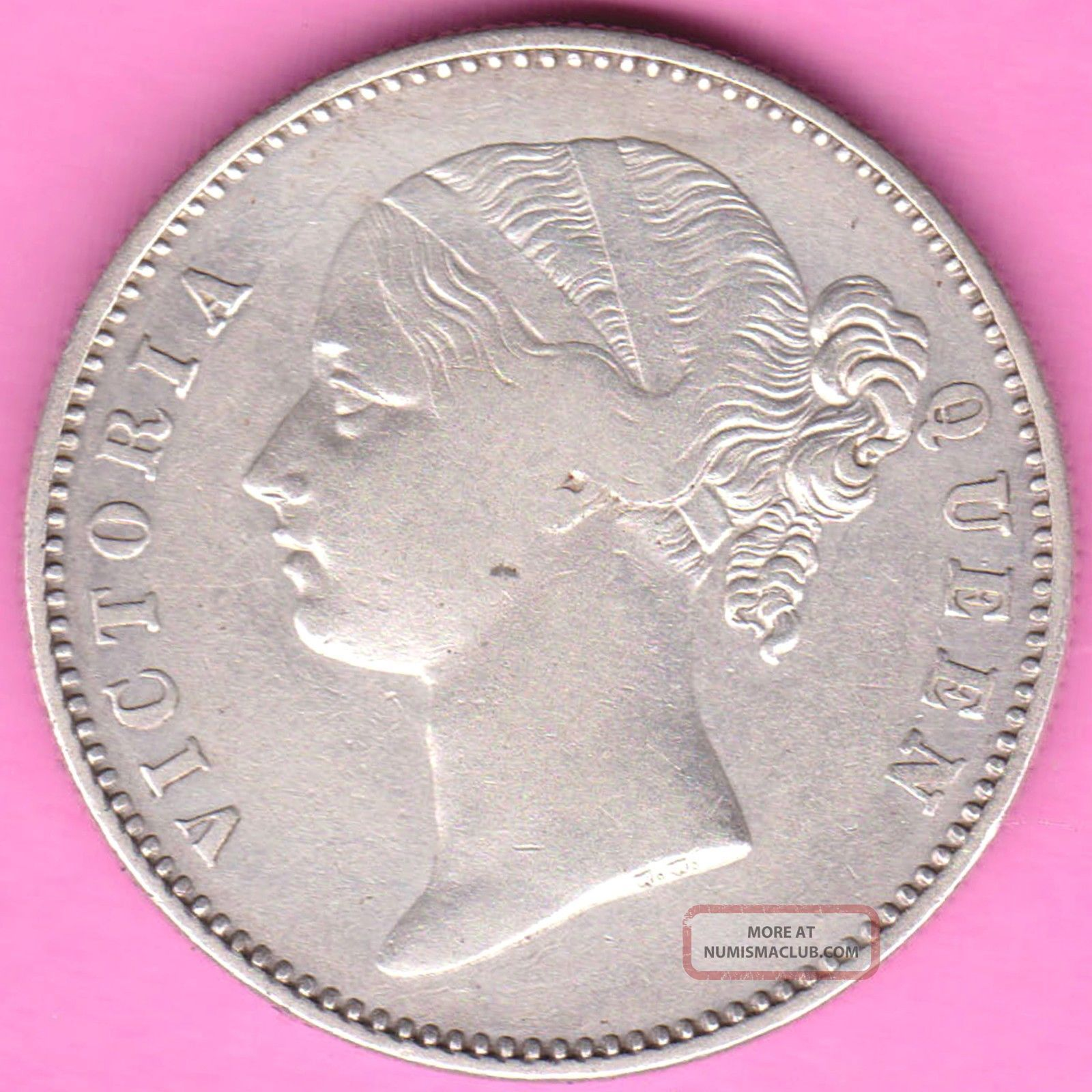 British India - 1840 - Divided Legend - One Rupee - Victoria - Rarest Silver Coin - 28 British photo