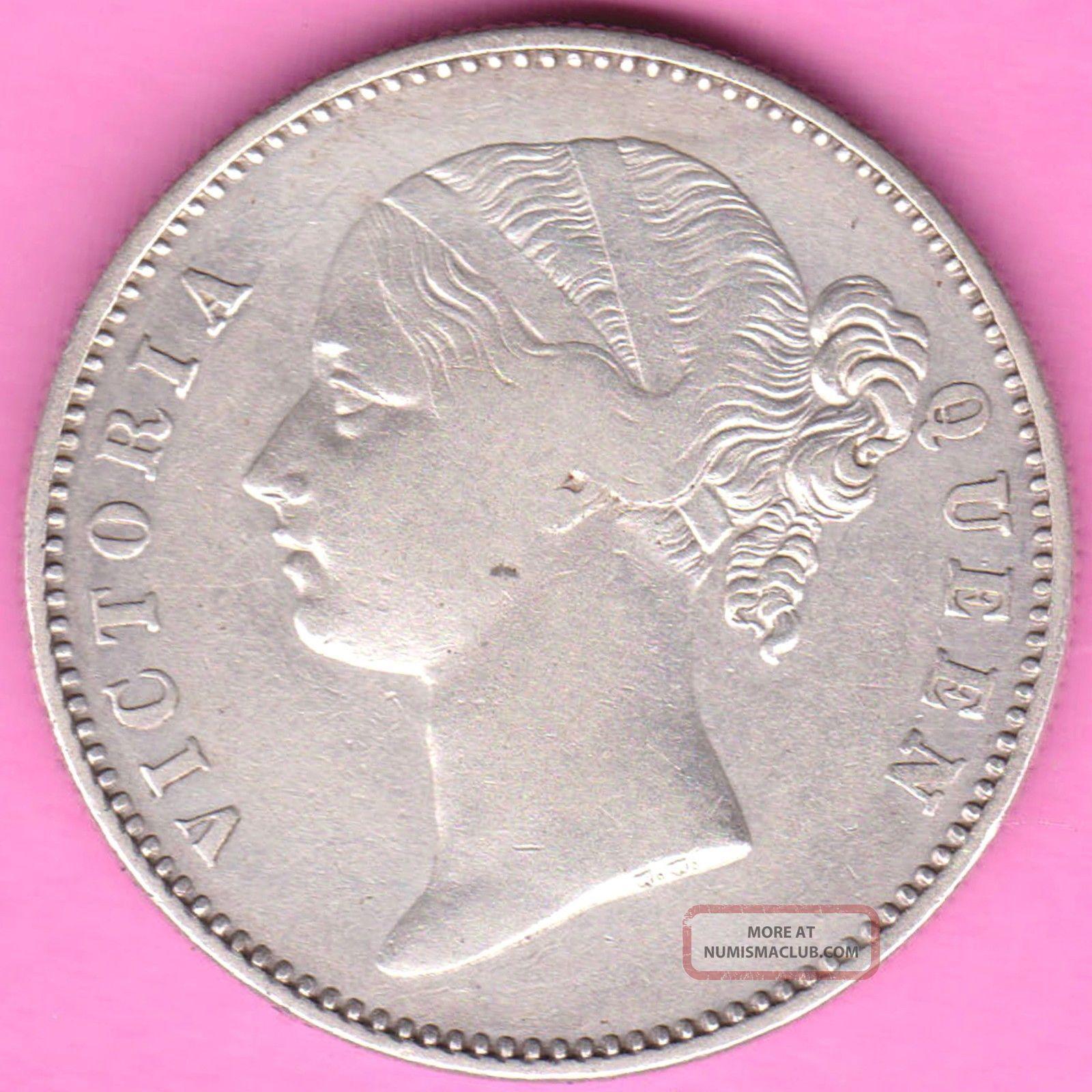 British India - 1840 - Divided Legend - One Rupee - Victoria - Rarest Silver Coin - 28 British photo