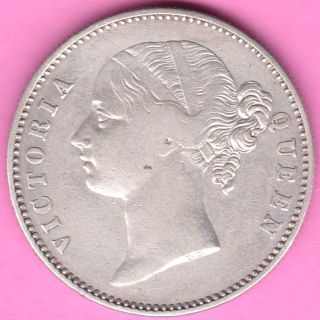 British India - 1840 - Divided Legend - One Rupee - Victoria - Rarest Silver Coin - 28 photo