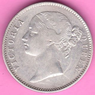 British India - 1840 - Divided Legend - One Rupee - Victoria - Rarest Silver Coin - 27 photo