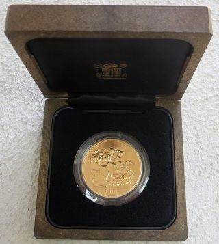1984 Gold Great Britain 5 Pounds St.  George Uncirculated Coin photo
