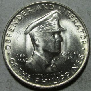 Philippines,  50 Centavos,  1947s,  Bu,  Macarthur, .  2411 Ounce Silver photo