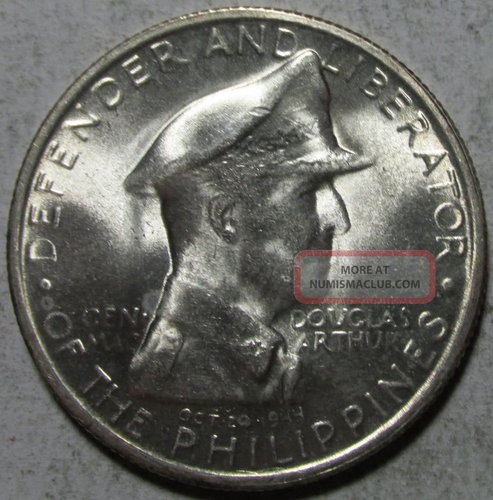 Philippines,  Peso,  1947s,  Brilliant Uncirculated,  Macarthur, .  5787 Ounce Silver Republic (1946-Now) photo