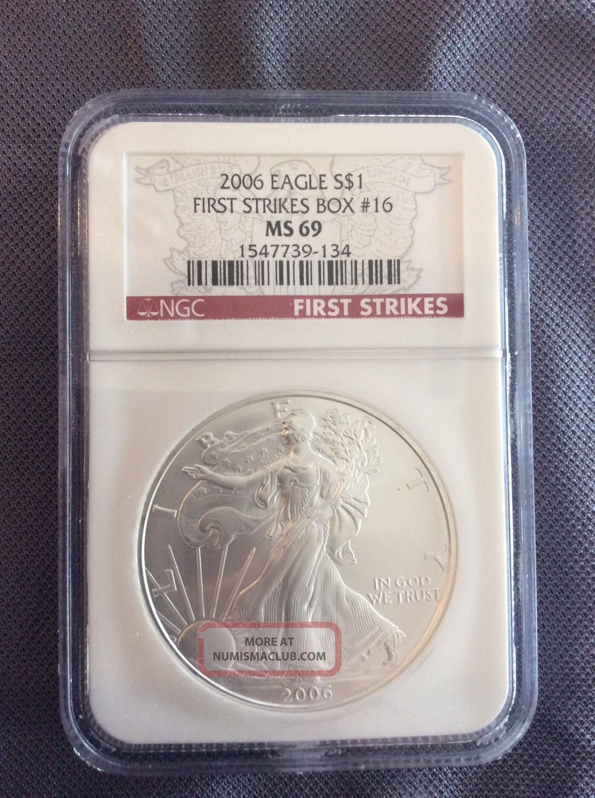 2006 Silver Eagle First Strikes Box 16 Ngc Ms69 Silver photo
