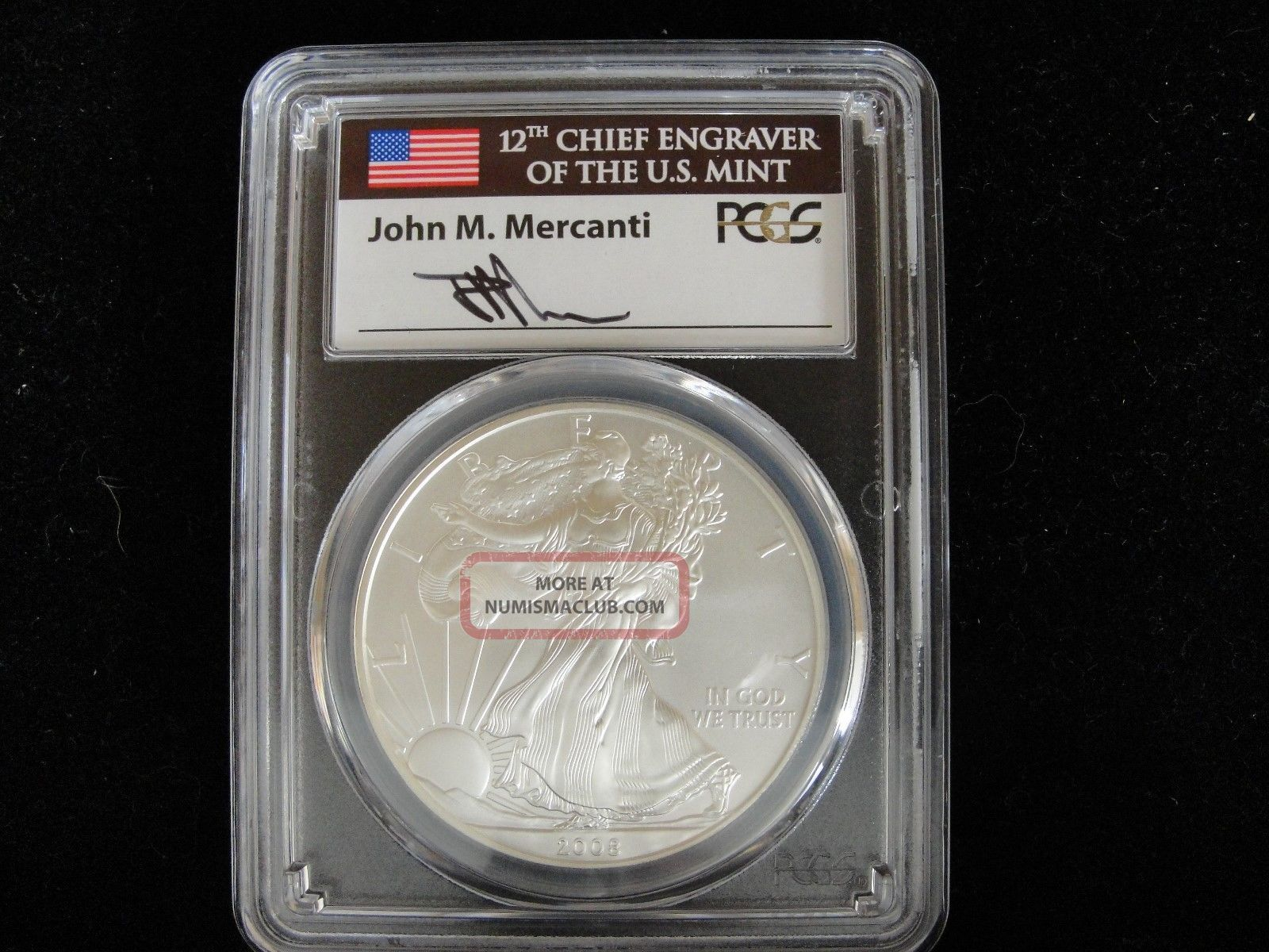 Pcgs 2008 W Sp70 Burnished Silver Eagle Silver photo