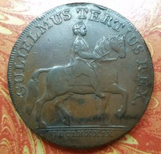 1791 Great Britain Yorkshire Hull Half Penny Conder Token D&h 20 Extra Fine photo