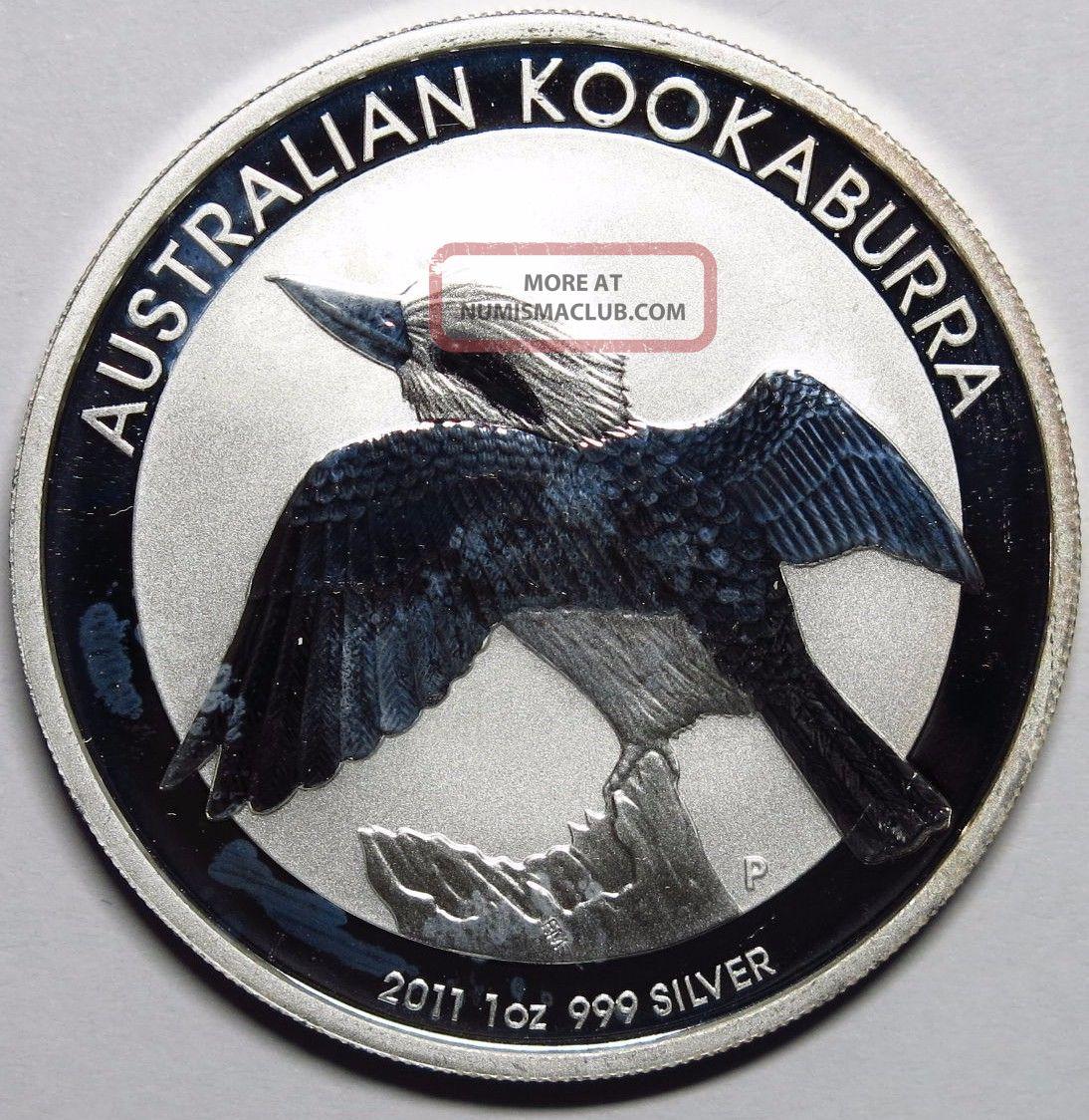 2011 Australia 1 Oz Silver Kookaburra Round Commemorative photo
