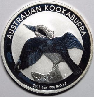 2011 Australia 1 Oz Silver Kookaburra Round photo