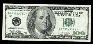 1996 $100 Franklin One Hundred Dollar Federal Reserve Note