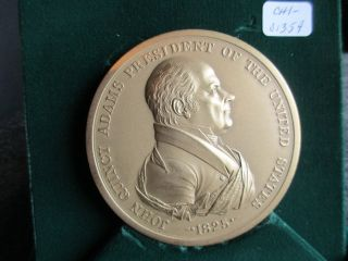 President John Quincy Adams,  Indian Peace Medal,  In Presentation Box,  Chi - 01359 photo