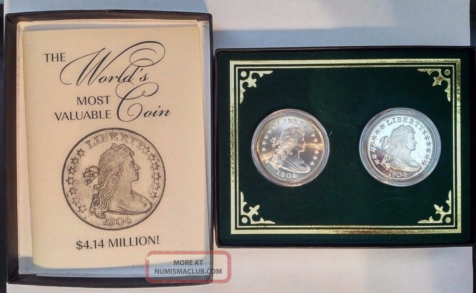 1804 Bust Dollar Silver Proof Copy Gallery Museum Ron Landis Exonumia photo