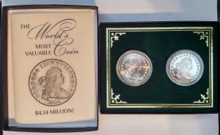 1804 Bust Dollar Silver Proof Copy Gallery Museum Ron Landis photo