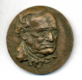 Henry Monnier French Playwright,  Caricaturist And Actor.  Bronze Medal By Querolle photo